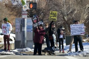 Gay marriage license protests in Provo, Utah
