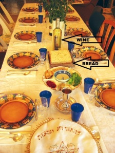 This is how Jewish people set the table for the Passover Seder meal.