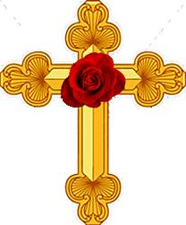 cross-golden-rose